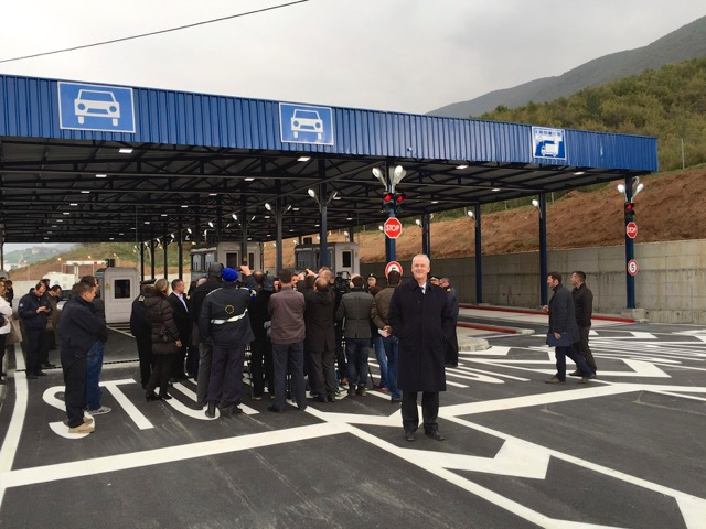 Official opening of the new Border Crossing lanes from Kosovo to Albania at Vermice on Friday, 31st October 2014