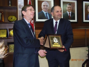 Mr Ian Lankshear, who was recently honoured by Mr Bassam Talhouni, the Jordanian Minister of Justice
